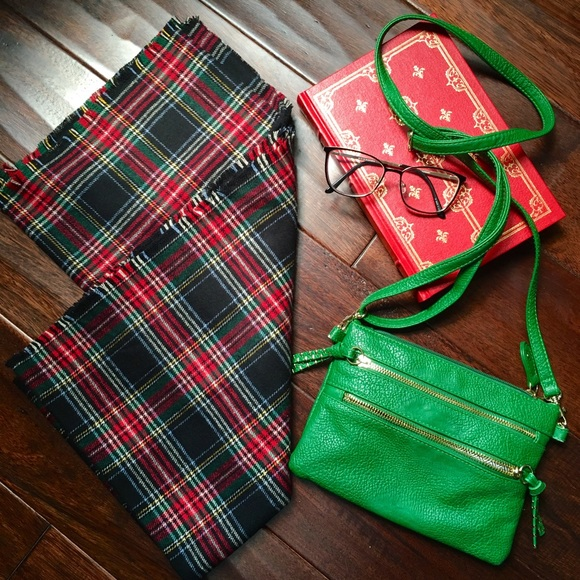 0ec120f9d Handmade Accessories   New Holiday Plaid Flannel Blanket Scarf ...
